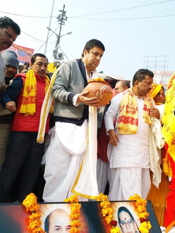 Mataji Asthi Visarjan, Haridwar